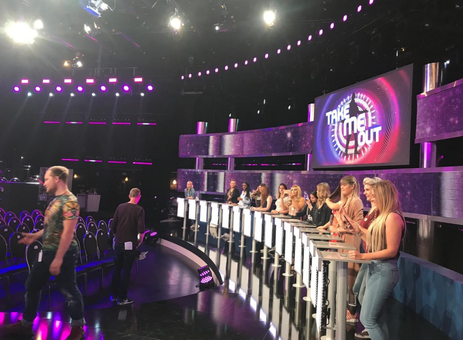 "Am Set der Datingshow ""Take me out"""